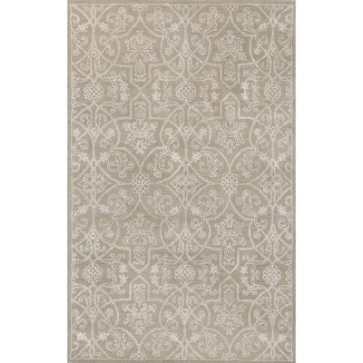 Emory Hand-Tufted Taupe/Ivory Area Rug Rug Size: 5 x 8