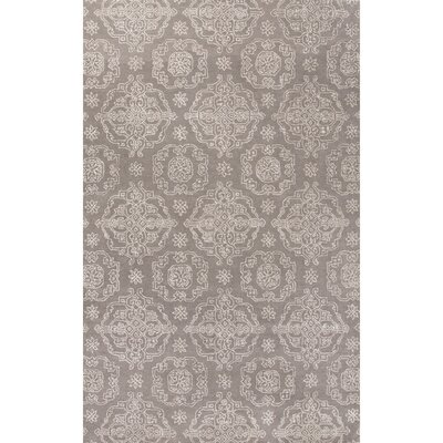Emory Hand-Tufted Gray/Ivory Area Rug Rug Size: 5' x 8'