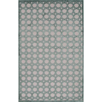 Cassidy Light Gray/Beryl Green Area Rug Rug Size: 2 x 3
