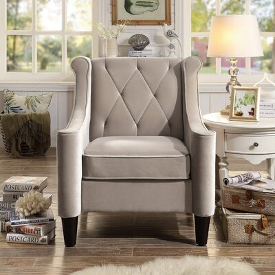 Buchanan Wingback Chair Color: Milky Beige