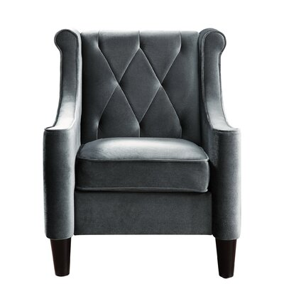 Buchanan Wingback Chair Upholstery: Grey