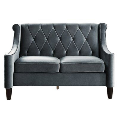 Buchanan Wingback Loveseat Upholstery: Grey