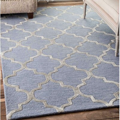 Landa Hand-Tufted Light Blue Area Rug Rug Size: Rectangle 83 x 11