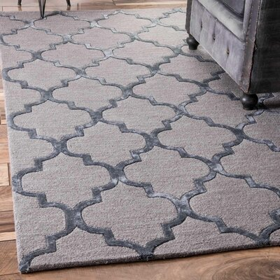 Lehman Hand-Tufted Dark Gray Area Rug Rug Size: Rectangle 83 x 11