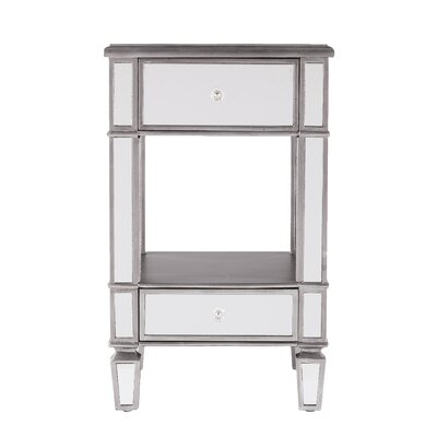 Netherby Mirrored End Table