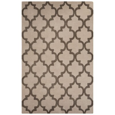 Sampson Hand-Tufted Gray Area Rug Rug Size: 5 x 8
