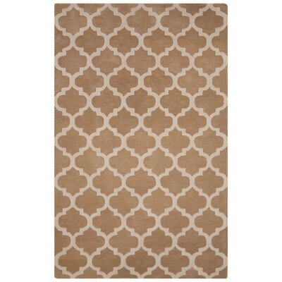 Sampson Hand-Tufted Beige/Ivory Area Rug Rug Size: 5 x 8