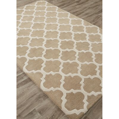 Sampson Hand-Tufted Beige/Ivory Area Rug Rug Size: Rectangle 2 x 3