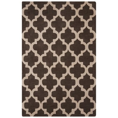 Sampson Hand-Tufted Taupe/Ivory Area Rug Rug Size: 5 x 8