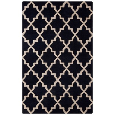 Sampson Hand-Tufted Blue/Ivory Area Rug Rug Size: Rectangle 5 x 8