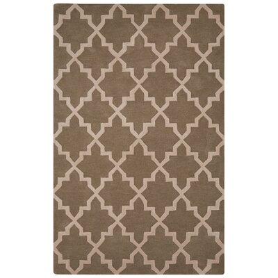 Sampson Hand-Tufted Tan/Ivory Area Rug Rug Size: 5 x 8