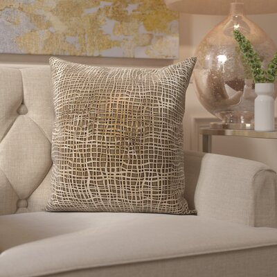 Fassbender Natural Leather Throw Pillow