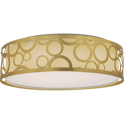 Sergent 1-Light LED Flush Mount Finish: Natural Brass