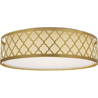 Aude 1-Light Flush Mount Finish: Natural Brass