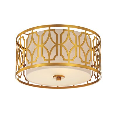 Sergent Traditional 2-Light Flush Mount