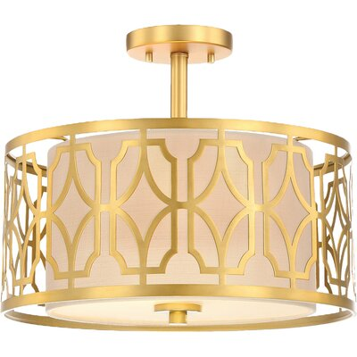 Sergent 2-Light Semi Flush Mount