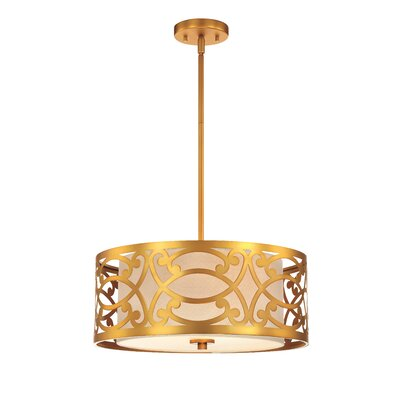Sergent 3-Light Drum Pendant
