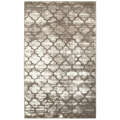Asherman Tan/Cream Area Rug Rug Size: 52 x 72
