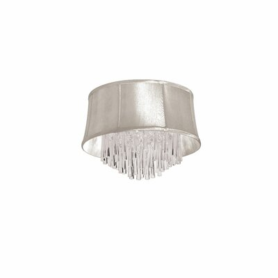 Deston 4-Light Flush Mount with Drum Shade Shade Color: Oyster