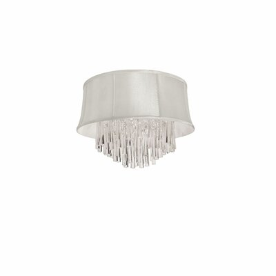 Deston Traditional 4-Light Flush Mount Shade Color: Pearl