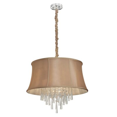 Marina 6-Light Shaded Chandelier Shade Color: Latte