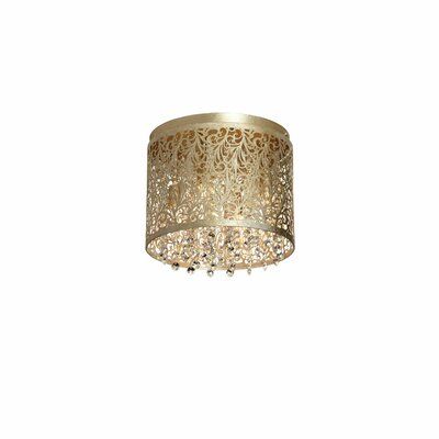 Hafer 4-Light Flush Mount Finish: Palladium Gold