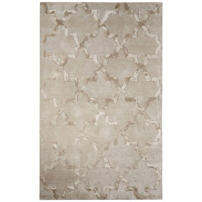 Avery Hand-Tufted Trellis Gray Area Rug Rug Size: 96 x 136