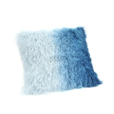 Elisha Spectrum Throw Pillow Color: Blue