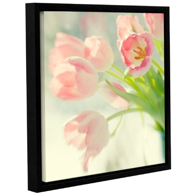 Pink Tulips Framed Photographic Print Size: 10