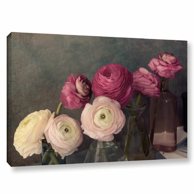 Baroque Ranunculus Photographic Print on Wrapped Canvas