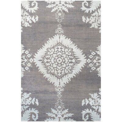 Bottesford Hand-Knotted Gray Area Rug Rug Size: 8 x 10