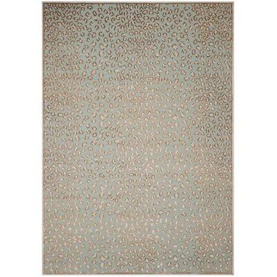 Maspeth Stone/Aqua Area Rug Rug Size: Rectangle 4 x 57