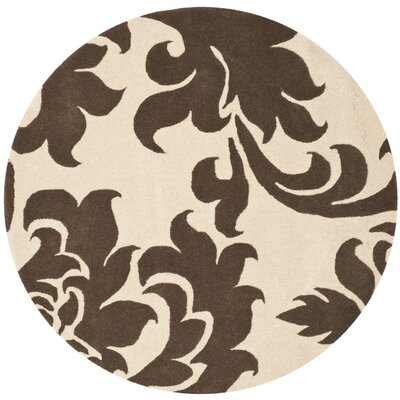 Barcelona Hand-Loomed Brown/Gray Area Rug Rug Size: Round 8
