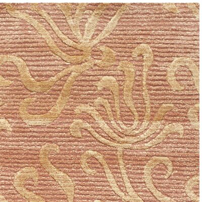 Seaflora Hand-Tufted Brown/Gold Area Rug Rug Size: 96 x 136