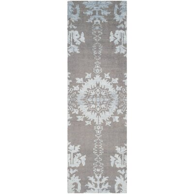 Bottesford Hand-Knotted Gray Area Rug Rug Size: Runner 26 x 8