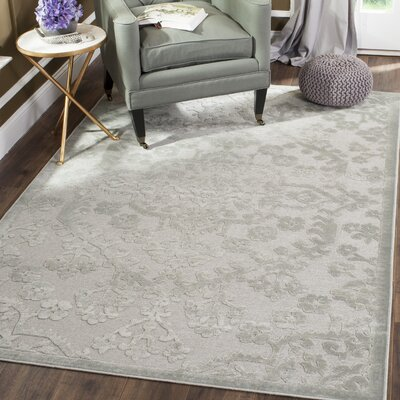 Mitchum Silver Area Rug Rug Size: 27 x 4