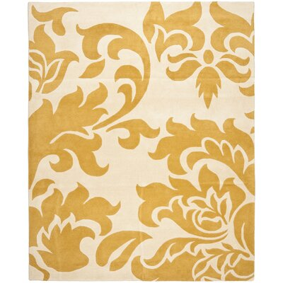 Barcelona Hand-Loomed Yellow/Beige Area Rug Rug Size: Rectangle 8 x 10