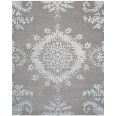 Bottesford Hand-Knotted Gray Area Rug Rug Size: 6 x 9