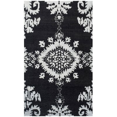 Bottesford Hand-Knotted Charcoal Area Rug Rug Size: Rectangle 5 x 8