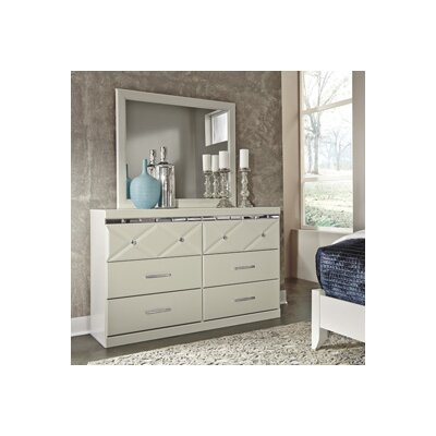 Redick 6 Drawer Double Dresser with Mirror
