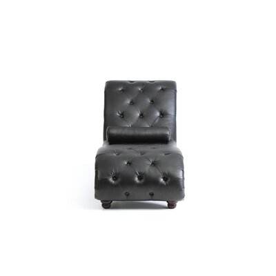 Renhold Chaise Lounge Upholstery: Black