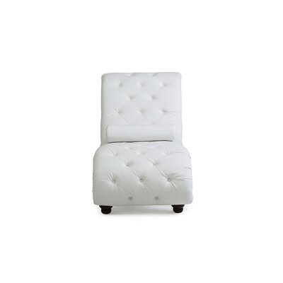 Renhold Chaise Lounge Upholstery: White