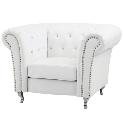 Renhold Club Chair Color: White