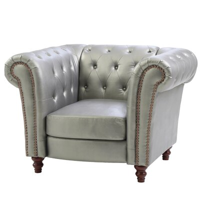 Renhold Solid Club Chair Color: Antique Silver