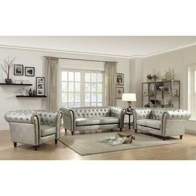 Willa Arlo Interiors WRLO3260 Renhold Wood Frame Living Room Collection