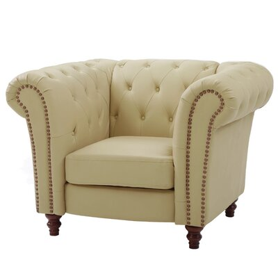 Renhold Solid Club Chair Upholstery: Beige