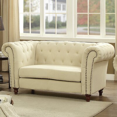 Renhold Chesterfield Tufted Loveseat
