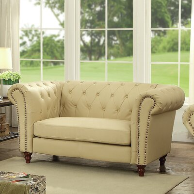 Willa Arlo Interiors WRLO3220 Renhold Chesterfield Rolled Arms Loveseat