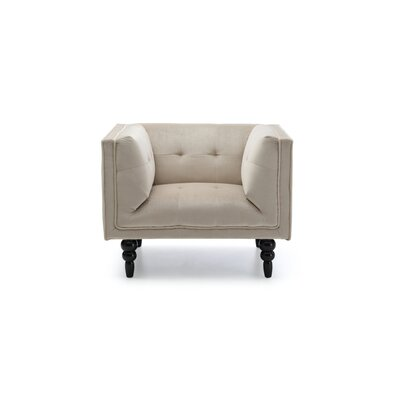 Caledonia Armchair Color: Beige