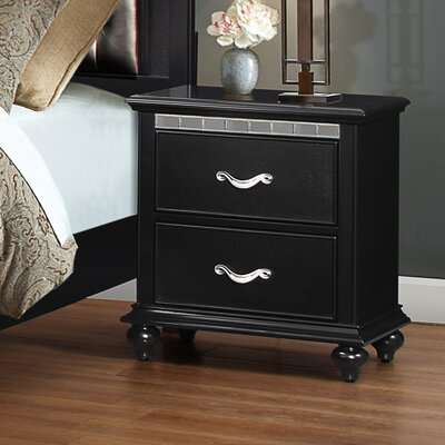 Almerton 2 Drawer Nightstand by Simmons Casegoods Color: Ebony